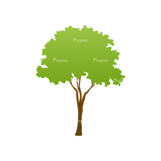 Green Trees Vector Tree 19 Clip Art - SVG & PNG tree