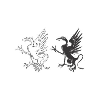 Griffins Vector 1 20 Clip Art - SVG & PNG vector