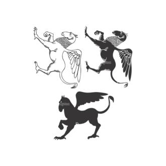 Griffins Vector 1 9 Clip Art - SVG & PNG vector