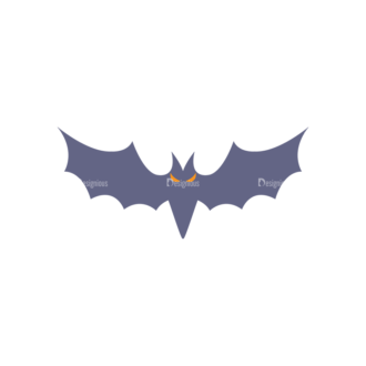 Halloween Icons Set 2 Vector Bat Clip Art - SVG & PNG vector