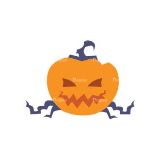Halloween Icons Set 2 Vector Pumpkin Clip Art - SVG & PNG vector