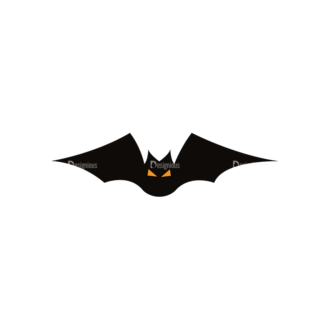 Halloween Vector Elements Set 1 Vector Bat 17 Clip Art - SVG & PNG vector