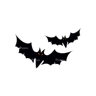 Halloween Vector Elements Set 1 Vector Bat 21 Clip Art - SVG & PNG vector
