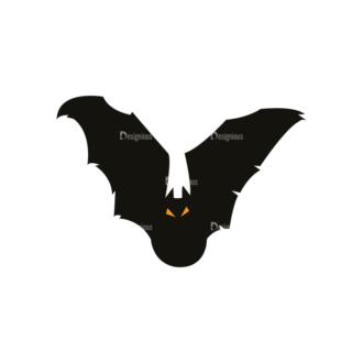 Halloween Vector Elements Set 1 Vector Bat 23 Clip Art - SVG & PNG vector