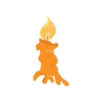 Halloween Vector Elements Set 1 Vector Candle Clip Art - SVG & PNG vector