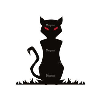 Halloween Vector Elements Set 1 Vector Cat Clip Art - SVG & PNG vector