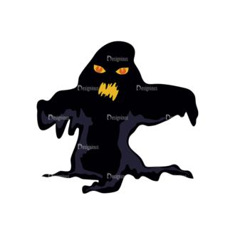 Halloween Vector Elements Set 1 Vector Ghost 24 Clip Art - SVG & PNG vector
