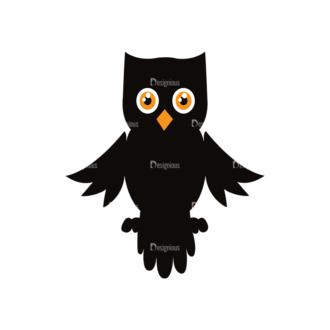 Halloween Vector Elements Set 1 Vector Owl Clip Art - SVG & PNG vector
