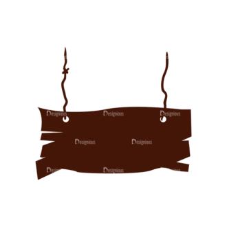 Halloween Vector Elements Set 1 Vector Wood Board Clip Art - SVG & PNG vector