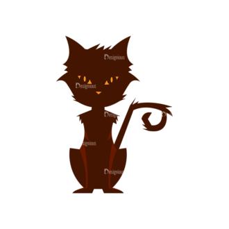 Halloween Vector Elements Set 2 Vector Cat Clip Art - SVG & PNG vector