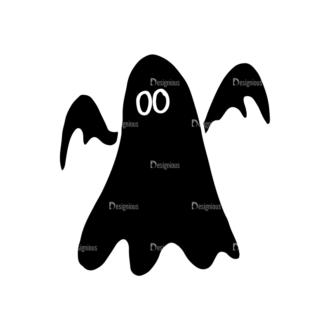 Halloween Vector Elements Set 2 Vector Ghost Xx26F Clip Art - SVG & PNG vector