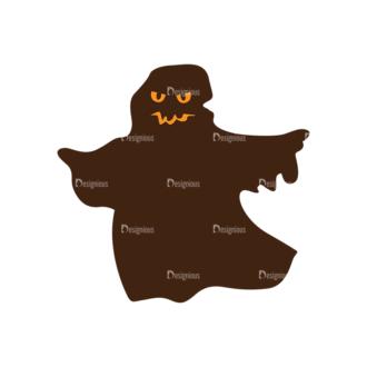Halloween Vector Elements Set 2 Vector Ghost Clip Art - SVG & PNG vector