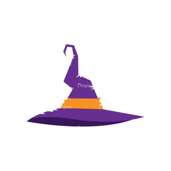 Halloween Vector Elements Set 2 Vector Witch Hat 04 Clip Art - SVG & PNG vector