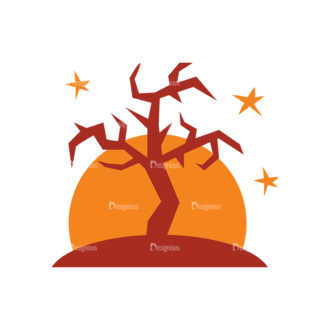 Halloween Vector Set 10 Vector Tree Clip Art - SVG & PNG tree