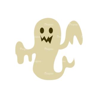 Halloween Vector Set 11 Vector Ghost 03 Clip Art - SVG & PNG vector