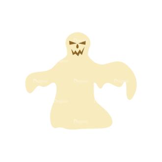 Halloween Vector Set 11 Vector Ghost 09 Clip Art - SVG & PNG vector