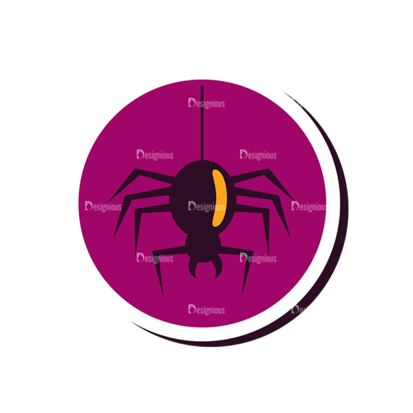 Halloween Vector Set 12 Vector Spider 5