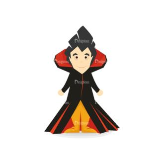 Halloween Vector Set 13 Vector Dracula Clip Art - SVG & PNG vector