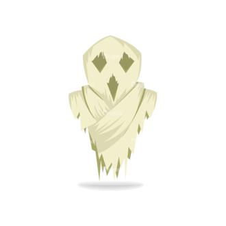 Halloween Vector Set 13 Vector Ghost Clip Art - SVG & PNG vector