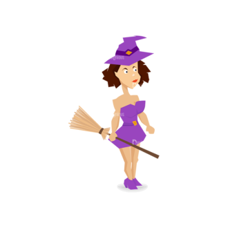 Halloween Vector Set 13 Vector Witch Clip Art - SVG & PNG vector