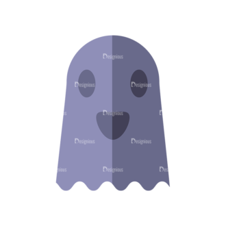 Halloween Vector Set 9 Vector Ghost Clip Art - SVG & PNG vector