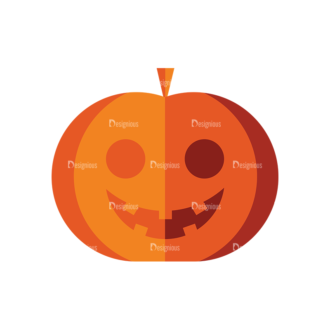 Halloween Vector Set 9 Vector Pumpkin 03 Clip Art - SVG & PNG vector