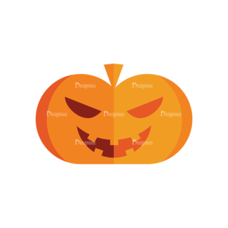 Halloween Vector Set 9 Vector Pumpkin 07 Clip Art - SVG & PNG vector