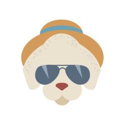 Hipster Animals Vector 2 Vector Dog Clip Art vector