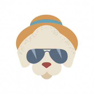 Hipster Animals Vector 2 Vector Dog Clip Art - SVG & PNG vector