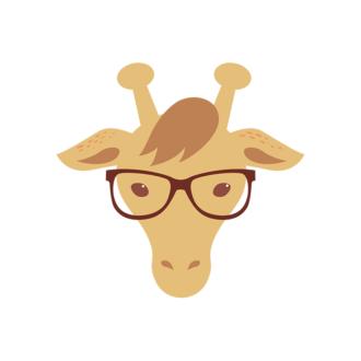 Hipster Animals Vector 2 Vector Giraffe Clip Art - SVG & PNG vector