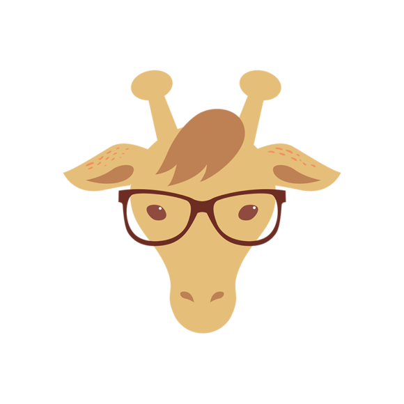 Hipster Animals Vector 2 Vector Giraffe hipster animals vector set 2 vector giraffe