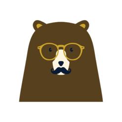 Hipster Animals Vector 3 Vector Bear Clip Art vector