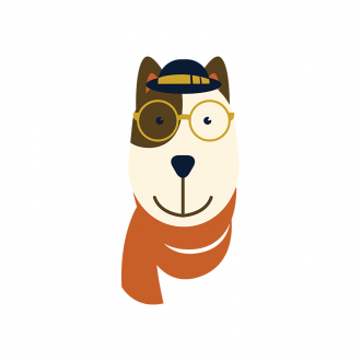 Hipster Animals Vector 3 Vector Dog Clip Art - SVG & PNG vector
