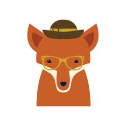Hipster Animals Vector 3 Vector Fox Clip Art vector