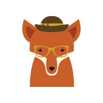 Hipster Animals Vector 3 Vector Fox Clip Art - SVG & PNG vector