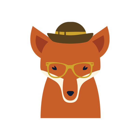 Hipster Animals Vector 3 Vector Fox hipster animals vector set 3 vector fox