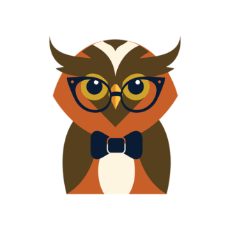 Hipster Animals Vector 3 Vector Owl Clip Art - SVG & PNG vector