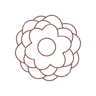 Home Sweet Home Vector Set 1 Vector Flower 09 Clip Art - SVG & PNG vector