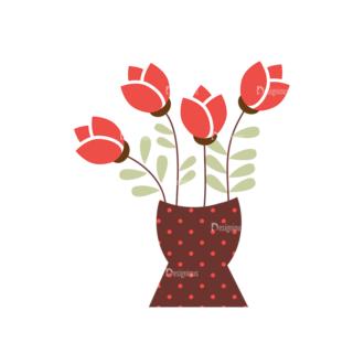 Home Sweet Home Vector Set 1 Vector Flowers 03 Clip Art - SVG & PNG vector