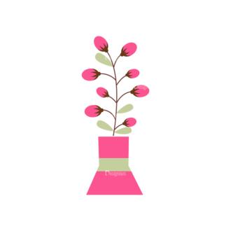 Home Sweet Home Vector Set 1 Vector Flowers 04 Clip Art - SVG & PNG vector