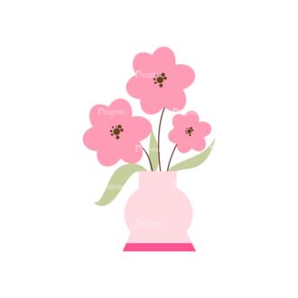 Home Sweet Home Vector Set 1 Vector Flowers 05 Clip Art - SVG & PNG vector
