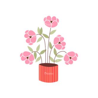 Home Sweet Home Vector Set 1 Vector Flowers 08 Clip Art - SVG & PNG vector