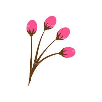 Home Sweet Home Vector Set 1 Vector Flowers 14 Clip Art - SVG & PNG vector