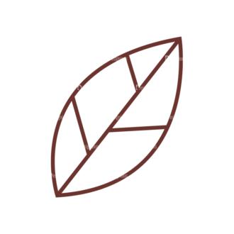 Home Sweet Home Vector Set 1 Vector Leaf Clip Art - SVG & PNG leaf