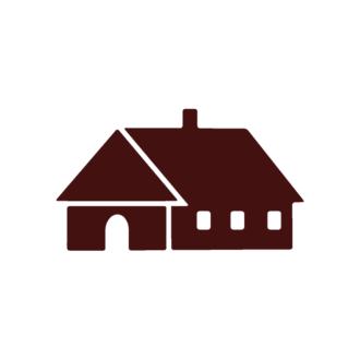 Houses Vector Elements Set 1 Vector House 01 Clip Art - SVG & PNG vector
