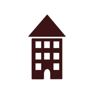 Houses Vector Elements Set 1 Vector House 09 Clip Art - SVG & PNG vector