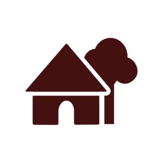 Houses Vector Elements Set 1 Vector House 10 Clip Art - SVG & PNG vector