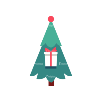 Illustrated Xmas Typography Vector A Clip Art - SVG & PNG vector