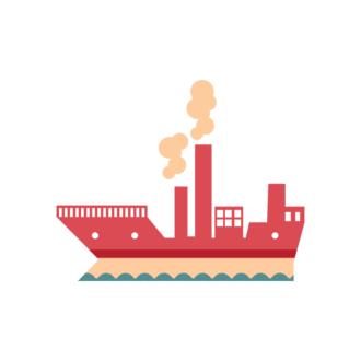Industrial Vector Set 2 Vector Ship Clip Art - SVG & PNG vector