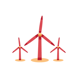 Industrial Vector Set 2 Vector Windmill 16 Clip Art - SVG & PNG vector